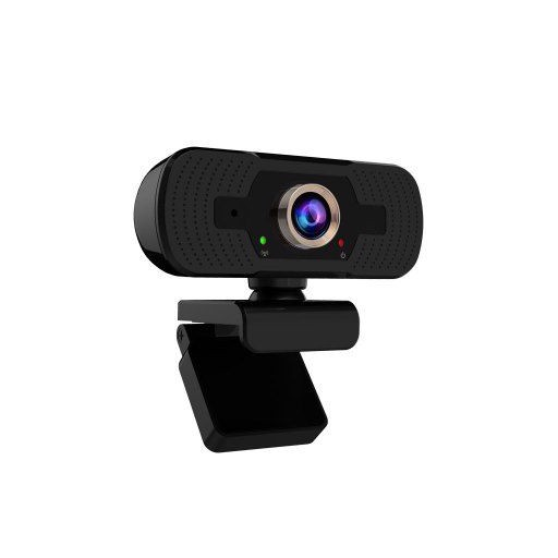 1080P HD Webcam with Privacy Cover Tripod Microphone Streaming Computer Web Camera Cam Video Recording for PC Desktop Work
