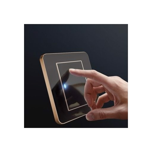 1 2 3 4 Gang 1 2 Way Press button Cool Black Mirror Light Switch  Any Click  Point Control Wall Switch Panel With Led Socket