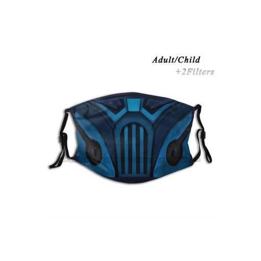 Sub Zero Mortal Kombat Face Print Reusable Face Mask Filter Anti Dust Clouth Mask Mortal Kombat Scorpion Scorpion Mortal Kombat