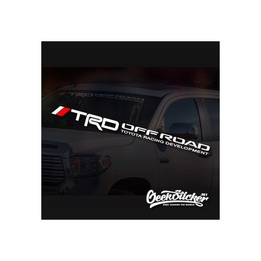TRD Off Road Car Truck Windshield Decal for Toyota Tacoma Sequoia Tundra 4Runner Waterproof reflective Sticker Vinyl Availabilit