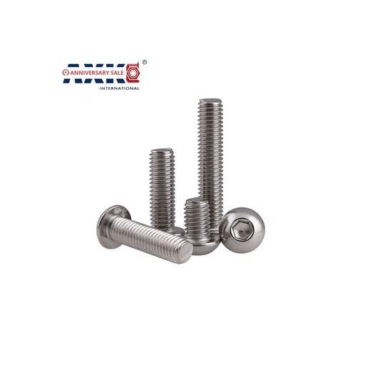 "#2 2#-56*3/8 2#-56*1/4 3/8"" 1/4"" Length 304 Stainless Steel US UNC Coarse Thread Bolt Hexagon Socket Pan Round Button Head Screw"