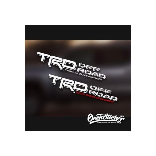 TRD OFF ROAD Decals 1PAIR Toyota Racing for Toyota Tacoma Sequoia Tundra 4Runner Decals Vinyl Sticker Black/White/Red