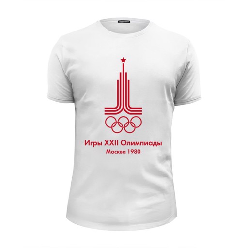 Printio Футболка Wearcraft Premium Slim Fit Олимпиада москва 1980 - xxii olympic games moscow