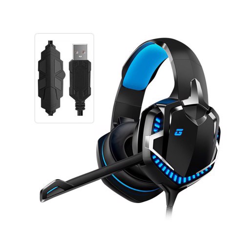 Jeaper Professional Gaming Headset HT01 Gamer Headphones 7.1 Surround Sound for Computer PS4 PC Wired Headsets With Mic LED Light Gifts