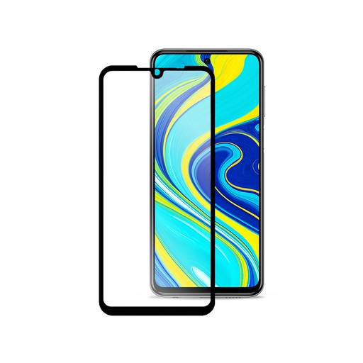 2,5D Silk Full Cover HD для Xiaomi Redmi Note 9 (черный)
