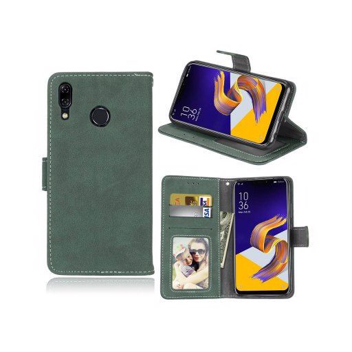 Card Slots Wallet Case Flip Cover PU Leather for Asus Zenfone 5z ZS620KL / Zenfone 5 ZE620KL