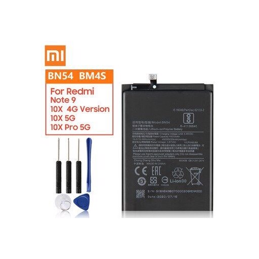 Original Replacement Battery BM4S BN54 For Xiaomi Redmi 10X 5G Redmi 10X Pro 5G Redmi Note 9 Note9 Redmi 10X  4G Version