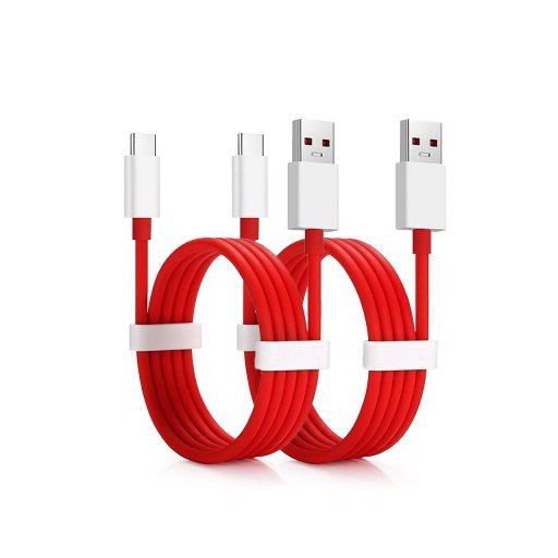 2PCS 4A Fast Charging Data USB Type-C Cable for OnePlus 8 / 7 Pro / 7/ 6/ 5T /7T