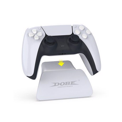 DOBE TP5-0537B Game Controller Handle Shelf Stand Gamepad Tabletop Display Holder with USB Charging Cable for PS5